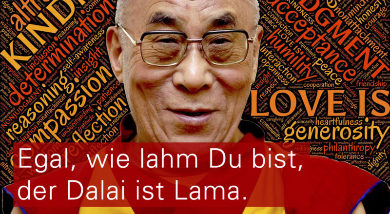 4.Egal, wie lahm Du bist, der Dalai ist Lama.