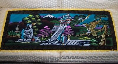 Decorative Japan Wall Hanging Tapestry Mount Fuji Hawk or Eagle Japanese for sale  Shiloh
