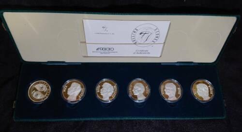 Super Rare Rolling Stones Silver Coin STEEL WHEELS TOUR Commemorative Certificat