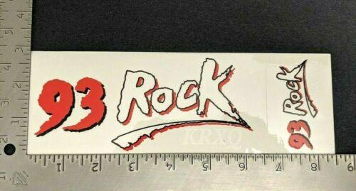 Vintage 93 Rock KRXQ Sacramento California Bumper Sticker 2 pcs