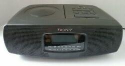 Sony ICF-CD820 Stereo Dual Alarm Clock AM/FM Radio CD Player Snooze Very Good