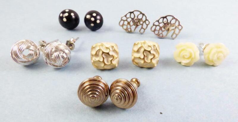 Vintage to Modern Lot of 6 Variety Stud Earrings