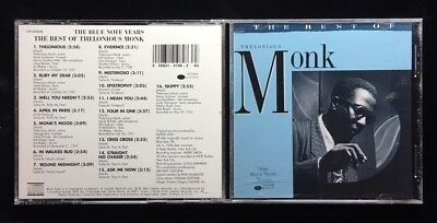 THELONIOUS MONK / THE BEST OF  AUDIO MUSIC CD BLUE NOTE SERIES