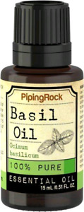 Basil 100% Pure Essential Oil, 1/2 fl oz (15 mL) Dropper