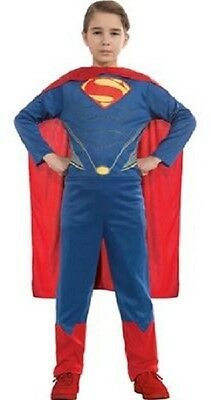 Superman Action Suit Kit Man of Steel Movie Fancy Dress Halloween Child Costume