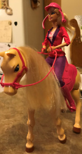 Barbie Horse and Rider + extra horse