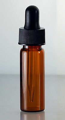 1 Dram 4 Ml Amber Glass Vials With Dropper- Pack Of 144