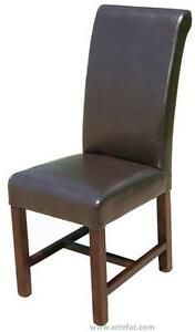 Black or Brown Faux Leather High Back Kitchen Dinning Chair