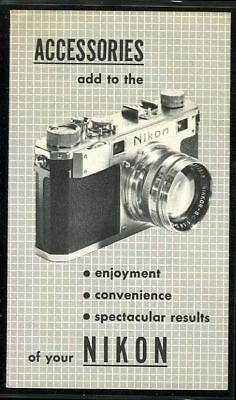 Nikon Rangefinder Accessories brochure 1952