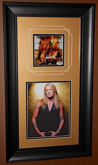 SKID ROW Sebastian Bach Kicking & Screaming signed CD FRAMED photo PSA DNA COA