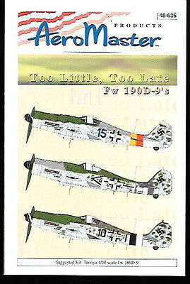 Aeromaster Too Little Too Late Focke-Wulf Fw 190D-9 Pt 1 Tamiya 1/48 AN48636