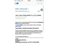 J HUS CONCERT TICKETS LONDON