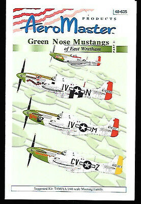 Aeromaster Green Nose Mustangs East Wretham Part 2 Decals Tamiya 1/48 AN48635