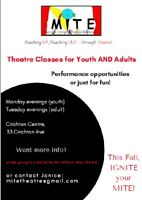 MITE Theatre Presents: Youth and Adult Theatre Classes