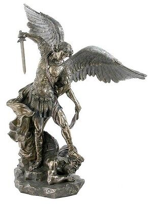 "Church Size 30"" Cold Cast Bronze Archangel Saint St Michael Figure Statue Decor on Rummage"