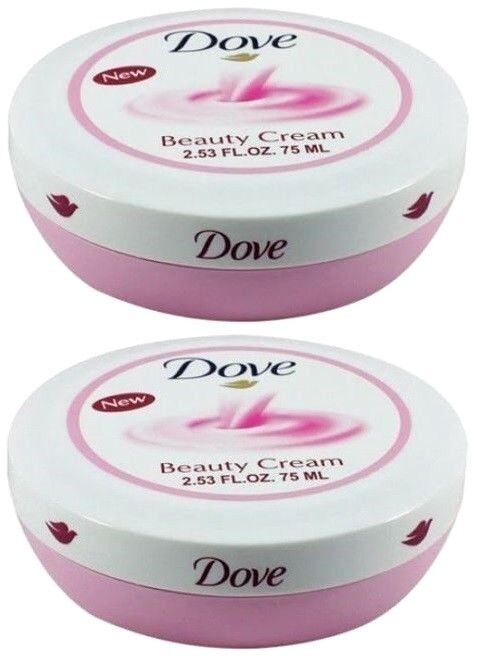 DOVE Beauty Cream For Complete Daily Skin Care 2.53 Oz Each 2 packs