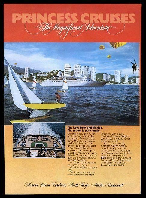 1982 Pacific Princess ship photo Princess Cruises cruise vintage print ad