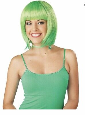 New Neon Green Bob Costume Wig Spritz  Fairy, Elf, Irish, St Patrick's Day