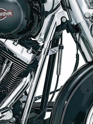 Kuryakyn Chrome Down Tube Front Frame Covers Accent Trim Harley Softail 07 2017