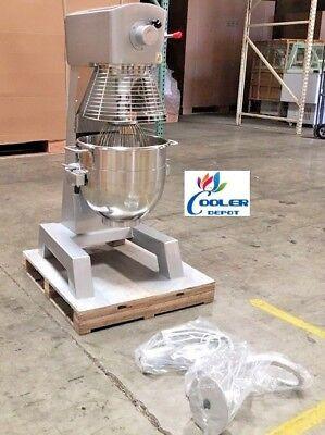 New 30 Quart Mixer Machine 3 Speed Commercial Bakery Kitchen Equipment Nsf Etl