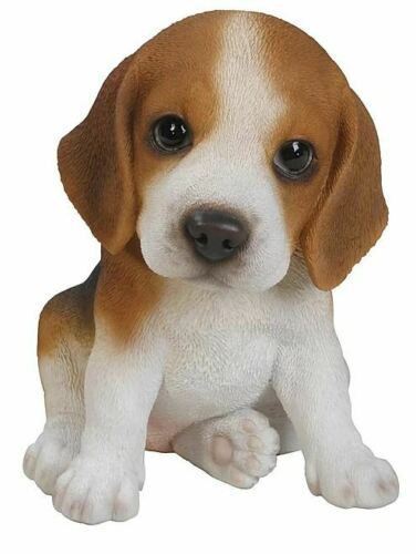"6.1""  BEAGLE  PUPPY FIGURINE  LIFELIKE ANIMAL  HOME  AND GARDEN DECOR"