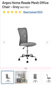 Mesh office Chairs grey or black colours available only £35 each. Real