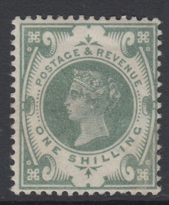 SG 211 1/- Dull Green K40 (1) in very fine and fresh very lightly mounted mint .