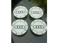 Audi centre caps genuine from 9 spoke alloys fit vw