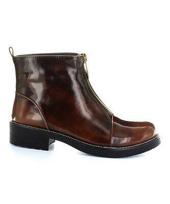 Electric Karma Women's Brown Ally Fashion Ankle Round Toe Boots Right 6M/Left6.5