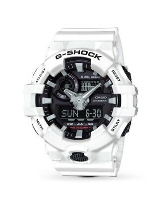 Casio G-SHOCK GA700-7A Super Illuminator White Black Analog-Digital Watch