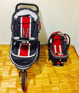 AMAZING Graco Jogger Travel System. Stroller+car seat+base.