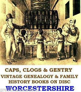 Worcestershire Genealogy Registers History Vintage Books on Disc Family Research