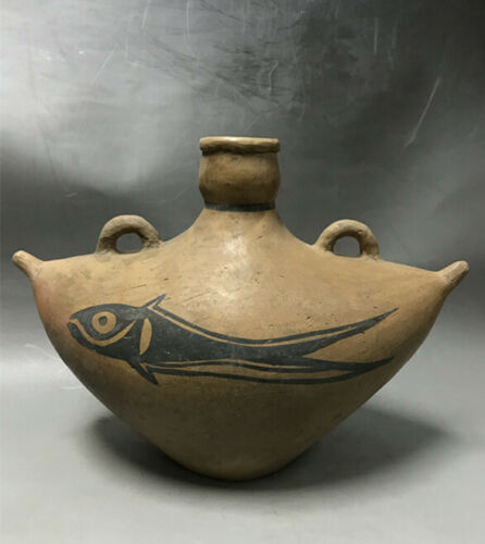 Chinese Neolithic Yangshao Culture pottery tank pot statue