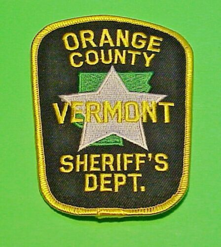 """ORANGE COUNTY VERMONT VT SHERIFF 4 1/4""""  POLICE PATCH  FREE SHIPPING!!!"""