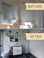 bathroom renovation in the area of Montreal