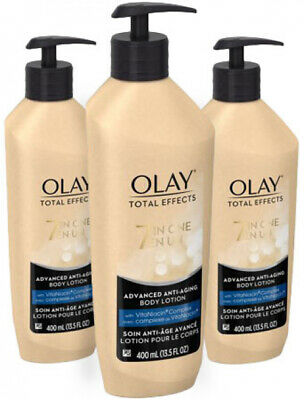 3 Pack Olay Advanced Anti-Aging Total Effects Body Lotion 13.5 Fl Oz