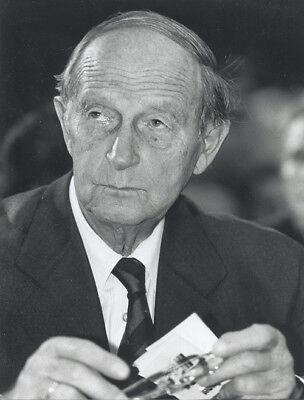 Foto HANS FILBINGER Pressefoto Vintage 1989  Ministerpräsident Baden-Württemberg