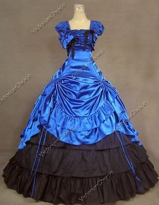 Black Ball Gown Halloween Costumes (Southern Belle Princess Saloon Girl Ball Gown Dress Witch Halloween Costume)