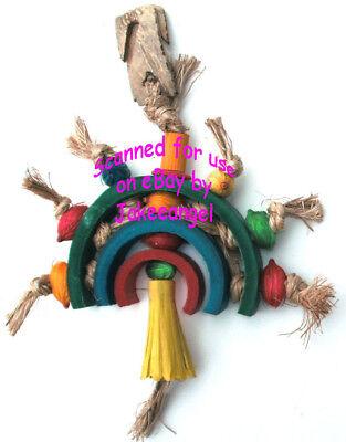 Parrot Pinata Bird Toys - Rainbow Large Bamboo Sisal Corn Husk Softwood Chew