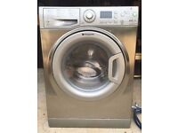 8KG Hotpoint washing machine & dryer in stainless steel, new model, 4 months warranty