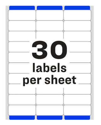 Avery 51605960 Address Labels 30 Labelssheet 600 Labels