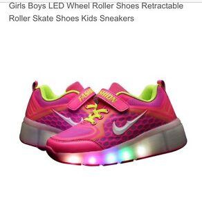 Girls retractable LED wheel roller shoe