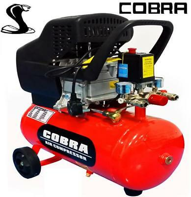 COBRA AIR TOOLS 24L LITER AIR COMPRESSOR 9.6CFM 2.5HP 115PSI POWERFUL MACHINE