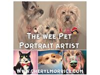 Custom Pet Portraits by local artist Cheryl Morrice