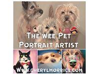 Custom Pet Portraits by local artist Cheryl Morrice