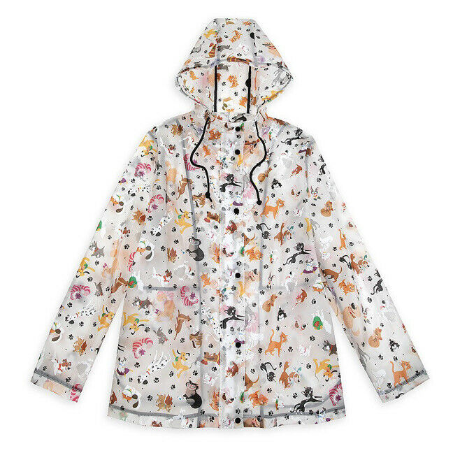 Disney Parks Reigning Cats And Dogs Raincoat For Women New With Tag Adult L XL X
