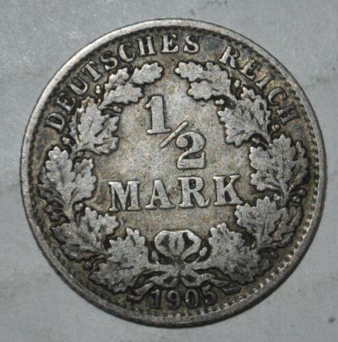 GERMANY 1/2 MARK 1906 A (G174)