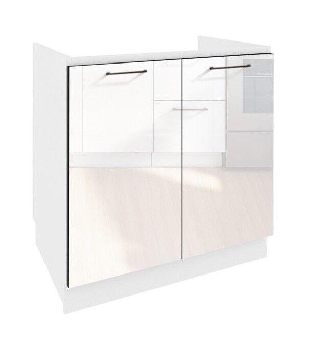 White Gloss Kitchen Cabinets Ebay: White Gloss Kitchen Unit Sink Cabinet Cupboard Base 800mm