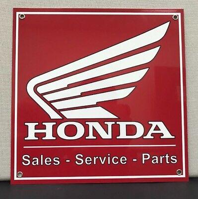 Racing Motorcycle Honda Service Parts Garage Sign