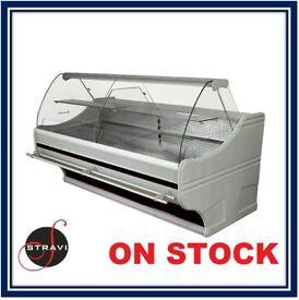NEW £1625 + VAT 253cm (8.3 feet) Serve Over Counter Display Fridge WEGA on STOCK